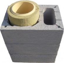 Systemy kominowe - pustaki wentylacyjne - komin uniwersalny trójwarstwowy fi100-200 trans HDS