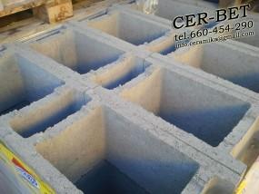 Pustak szalunkowy betonowy PS20, PS24, PS25, PS30, PS40 do zalewania