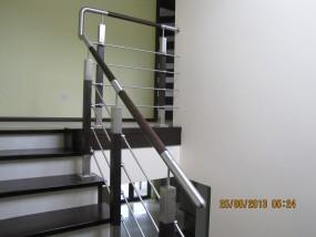 Balustrada metal-drewno