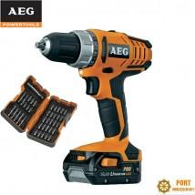 Wiertarko-wkrętarka akumulatorowa 18V 1,5Ah (4935433950) + Gratis! AEG BS 18 G2 Li-152C