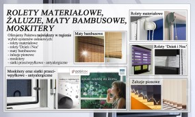 Rolety materiałowe, moskitery