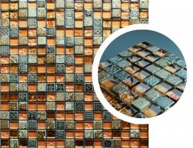 Mozaika szklano-kamienna MAYA SUN
