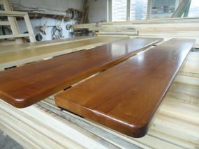 Parapety z drewna