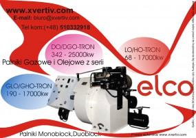 Przemysłowe palniki Elco GLO/GHA-DO/DGO-LO/HO-Tron Moc 68 - 17000/25000kw