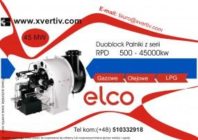 Palniki przemysłowe gazowe Elco DuoBlock RPD Moc od 500-45000kw
