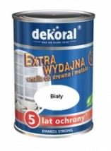 Dekoral - Emakol Strong  biały - 0,9 l  -  15,95 zł.