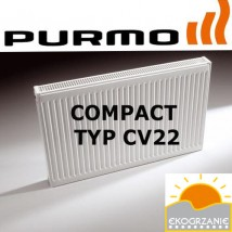 Grzejnik Purmo panelowy dolnozasilany dwupłytowy Ventil Compact CV22 600x1200