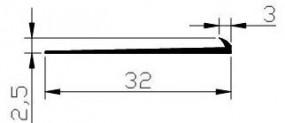 Listwa Wykończeniowa PVC NW LW