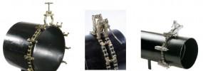 Centrowniki spawalnicze rur łańcuchowy, kleszczowy, rozpierający
