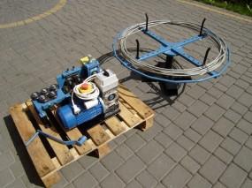 Prościarka do drutu odgromowego elektryczna + rozwijak