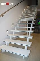 Schody solid surface, stopnie kompozytowe, podstopnice