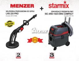 Zestaw do gładzi gipsowych MENZER LHS 225 PRO + STARMIX ISC ARD 1425 EWS