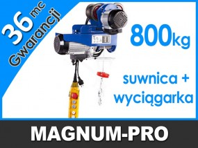 Wciągarka linowa z elektryczną suwnicą dźwig wyciągarka udźwig 800 kg MP6013