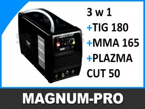 Wielofunkcyjna spawarka TIG 180 MMA 165 PLAZMA 50 MP2016