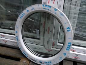 Okno okrągłe VEKA perfectline 750mm promień białe