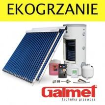 Zestaw solarny z kolektorami próżniowymi-rurowymi 4,7 m2 LUXURY GALMET