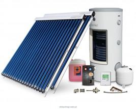 Zestaw solarny z kolektorami próżniowymi-rurowymi 6,2 m2 LUXURY GALMET