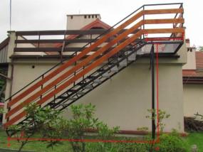 schody stalowe, zewnętrzne, tarasowe, techniczne