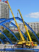 Wynajem dźwigu 30 ton LTF 1030 Długość ramienia roboczego 26 + 8 m.
