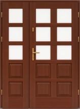 Drzwi zewnętrzne drewniane 2-skrzydłowe