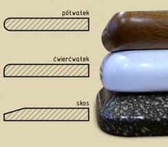 parapety wewnętrzne i zewnętrzne konglomerat/płyta MDF/PCV/stalowe
