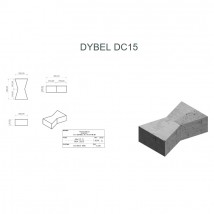 Dyble betonowe DC15